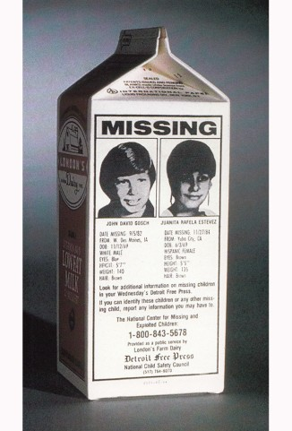 Johnny Gosch was the first kid to appear on the side of a milk carton.